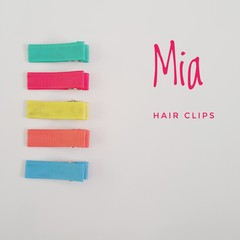 MIA | bright lined hair clips | snap clips, toddler clips, baby hair clips
