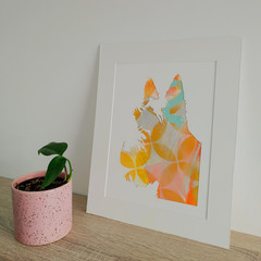 """""""Teddy the Terrier"""" original hand painted acrylic silhouette artwork"""