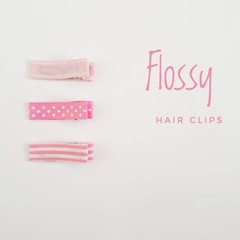 FLOSSY | Pink lined hair clips | snap clips, toddler clips, baby hair