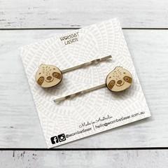 Sloth hair pins / hair clips