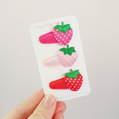 STRAWBERRY | Baby or Toddler Hair Clip