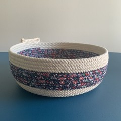 Rope Basket - with fabric wrapped strip