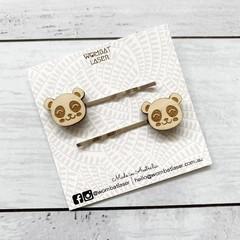 Panda hair pins / hair clips