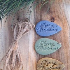 Christmas gift tags 3 pack - Merry Christmas