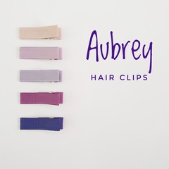 AUBREY | neutral lined hair clips | snap clips, toddler clips, baby hair clips