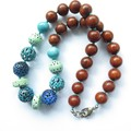 Sunday multi colour beaded casual chunky necklace.