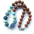 Sunday multi colour beaded casual chunky necklace.