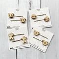 Gingerbread man hair pins / hair clips