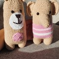 Handmade Crochet Kids Softied, Teddy & Elephant Amigurumi