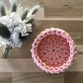 MEDIUM | crochet basket | essential oils | storage basket | PEACH