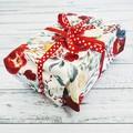 Reusable Fabric Gift Wrap Set of 3
