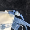 Unique Upcycled Clutch made from Vintage silk kimonos, Upcycled denim,