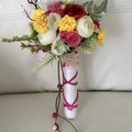 Boho Faux Spring  Flower Girl Wand