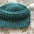 Childs Crochet Beanie sparkly - 47-53cm