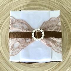 Cream Lace Decorated Gift  Box