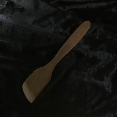 Hand crafted wooden spatula...Merbau.