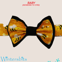 Bees bow tie. Baby size.