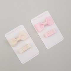 Zahli Bow Duo | Pink or Ivory | Baby Hair Clips, Girl Hair Clips, Toddler