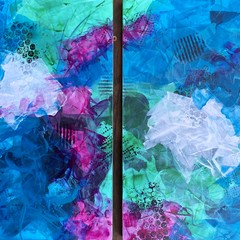 """""""Ebb and Flow""""- Diptych"""