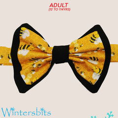 Bees bow tie. Teen/adult size.