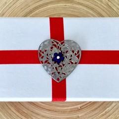 White wedding decorated box