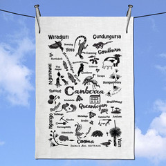 Canberra & Ngunawal & Surrounds Tea Towel Linen Tea Towel