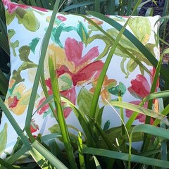 FLORAL OUTDOOR CUSHION COVERS  50CM X 50CM