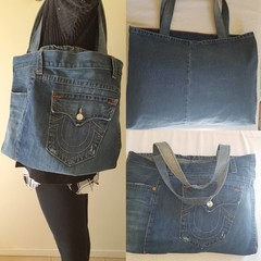 Recycled Tote Denim