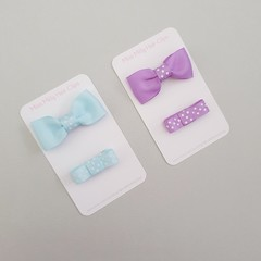 Zahli Bow Duo | Purple or Blue | Baby Hair Clips, Girl Hair Clips, Toddler