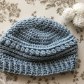 Child's crochet beanie sparkly - 47-53cm