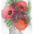 Watercolour Flowers Blank Card  - or personalised!