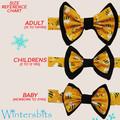 Bees bow tie. Children's size.
