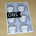 1st Birthday card - Boho bear -  Lion King - tiger - unisex - any age