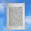 Southern Highlands of NSW Australia Hand Printed Linen Tea Towel  Free Shipping