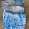 Girl baby set (2x bibs, 2x mini burp)