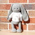 Grey crochet bunny with bunny print tee