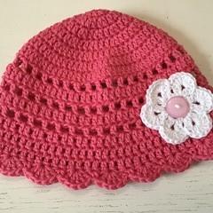 Pretty Pink Crocheted Hat
