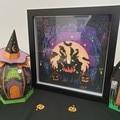 3D 12in x 12in Halloween Shadow Box