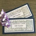CRYSTAL LANE GIFT VOUCHERS  $35 - $100