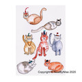 7 Cats - Blank Card  - or personalised!