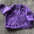 Purple cardigan