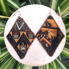 Aztec Diamond Earrings