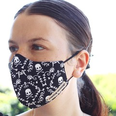 face mask, adjustable straps, unisex, 3 layers, 100% cotton, free post