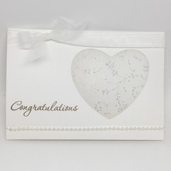 Wedding/Engagement Card - White and Silver
