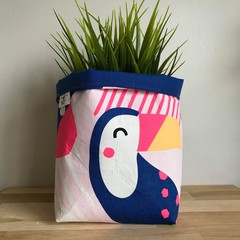 Small fabric planter | Storage basket | TOUCAN