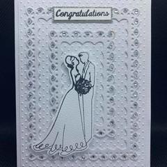 Wedding card / Wedding Bride / Blank card