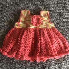 Newborn crochet dress with matching headband
