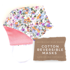 Reversible Face Mask Design: Flowers I