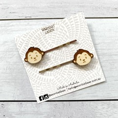 Monkey hair pins / hair clips