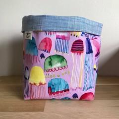 Small fabric planter | Storage basket | JELLYFISH